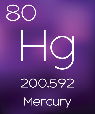 vectorial: Purple Background with the Element Mercury Stock Photo
