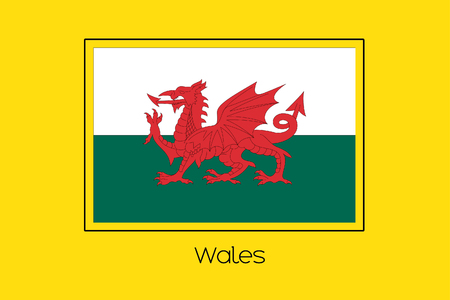 wales: A Flag Illustration of the country of Wales