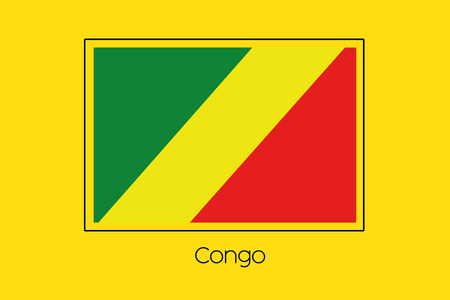 congo: A Flag Illustration of the country of Congo