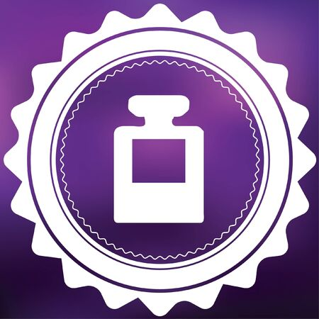 inkpot: A Retro Icon Isolated on a Purple Background - InkPot
