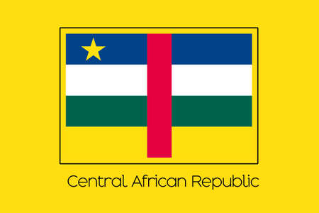 central african republic: A Flag Illustration of the country of Central African Republic Stock Photo