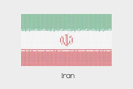 iran mosaic: A Mosaic Flag Illustration of the country of Iran
