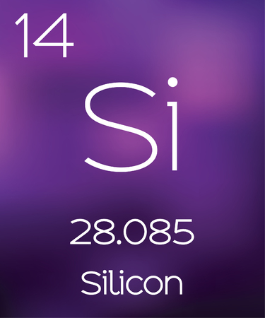 vectorial: Purple Background with the Element Silicon Stock Photo
