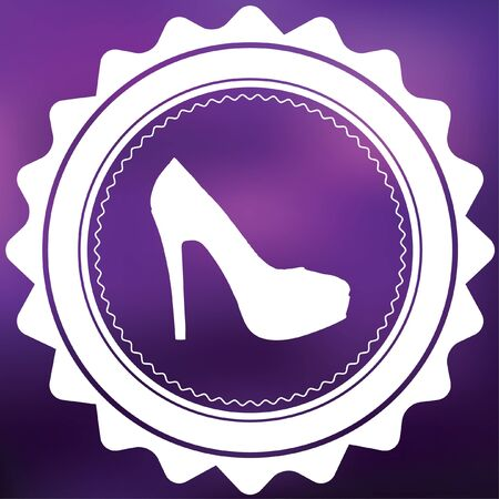 HEELS: A Retro Icon Isolated on a Purple Background - High Heels Stock Photo