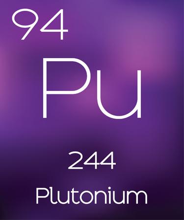 plutonium: Purple Background with the Element Plutonium