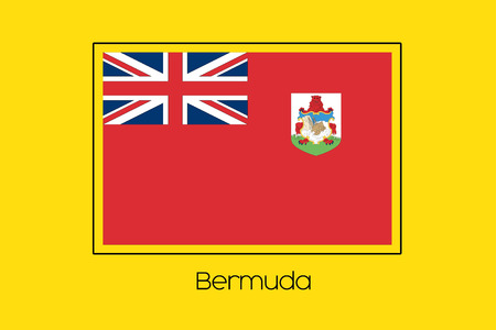 bermuda: A Flag Illustration of the country of Bermuda