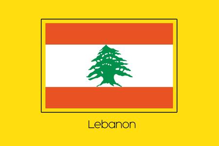 lebanon: A Flag Illustration of the country of Lebanon