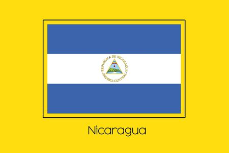 nicaragua: A Flag Illustration of the country of Nicaragua