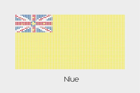 niue: A Mosaic Flag Illustration of the country of Niue