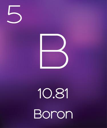 boron: Purple Background with the Element Boron
