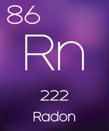 radon: Purple Background with the Element Radon