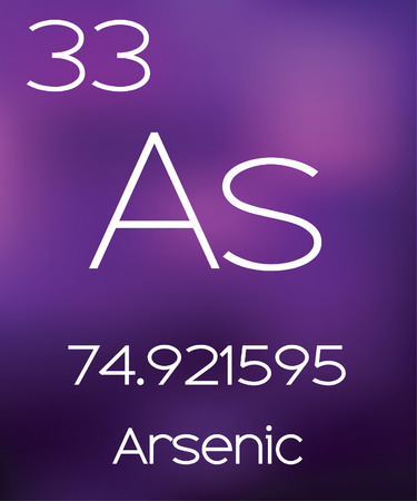 vectorial: Purple Background with the Element Arsenic