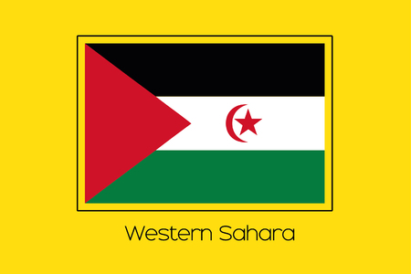 sahara: A Flag Illustration of the country of Western Sahara