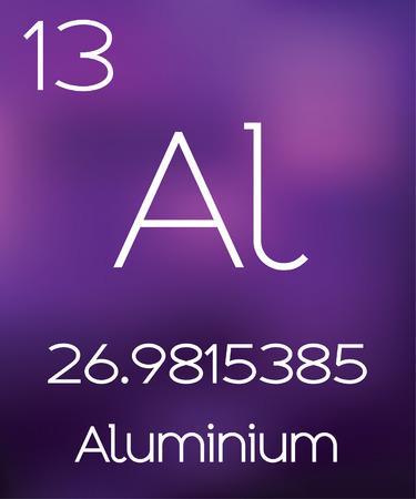 aluminium: Purple Background with the Element Aluminium Stock Photo