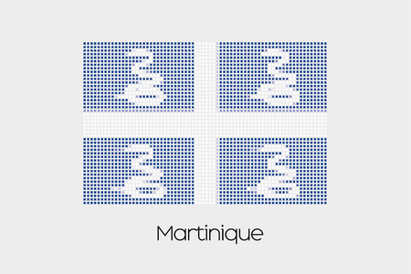 martinique: A Mosaic Flag Illustration of the country of Martinique