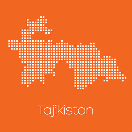 tajikistan: A Map of the country of Tajikistan Stock Photo