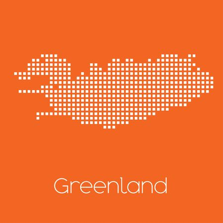 greenland: A Map of the country of Greenland Stock Photo