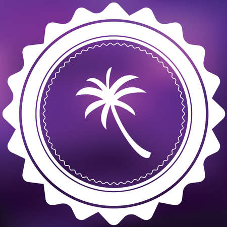 palmtrees: A Retro Icon Isolated on a Purple Background - Palmtree Stock Photo