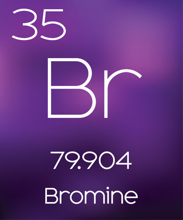 vectorial: Purple Background with the Element Bromine
