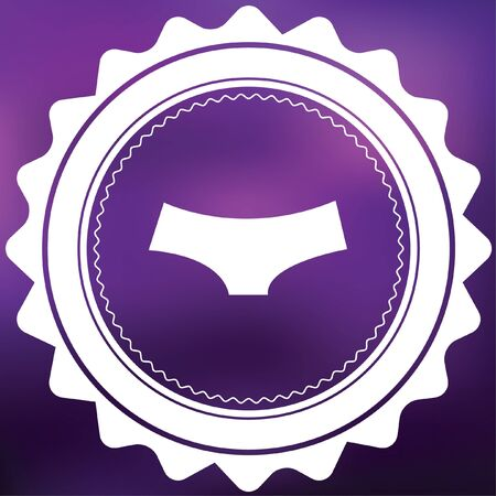 briefs: A Retro Icon Isolated on a Purple Background - Womens Briefs