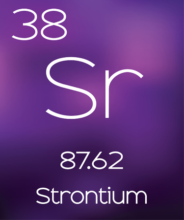 strontium: Purple Background with the Element Strontium Stock Photo