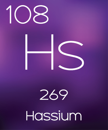 vectorial: Purple Background with the Element Hassium Stock Photo