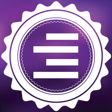 align: A Retro Icon Isolated on a Purple Background - Right Align