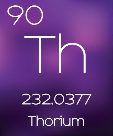 thorium: Purple Background with the Element Thorium Stock Photo