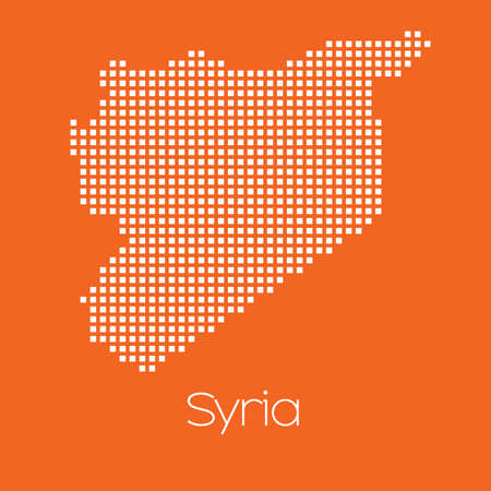 travel concept: A Map of the country of Syria