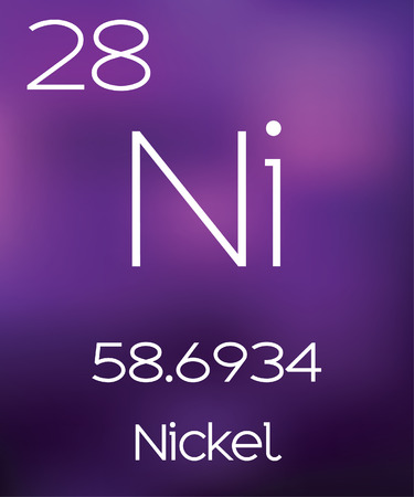 nickel: Purple Background with the Element Nickel
