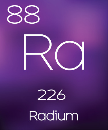 radium: Purple Background with the Element Radium