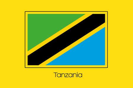 tanzania: A Flag Illustration of the country of Tanzania Stock Photo