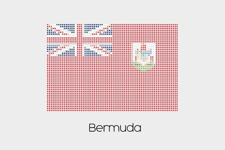 bermuda: A Mosaic Flag Illustration of the country of Bermuda