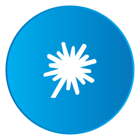 thick: A White Icon Isolated on a Blue Button - Explosion Thick