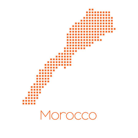 morocco: A Map of the country of Morocco Stock Photo