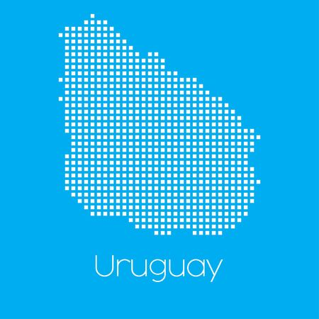 graphic illustration: A Map of the country of Uruguay