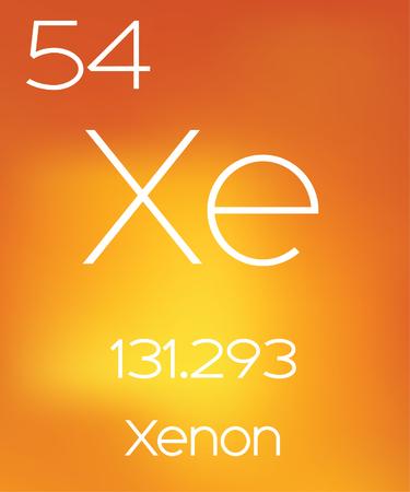 periodic element: An Informative Illustration of the Periodic Element - Xenon