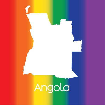 angola: A Map of the country of Angola Stock Photo