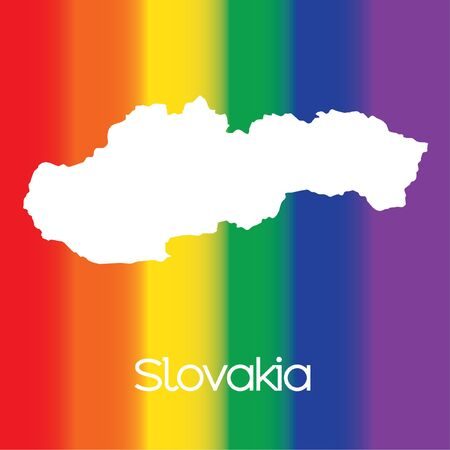 slovakia: A Map of the country of Slovakia Stock Photo