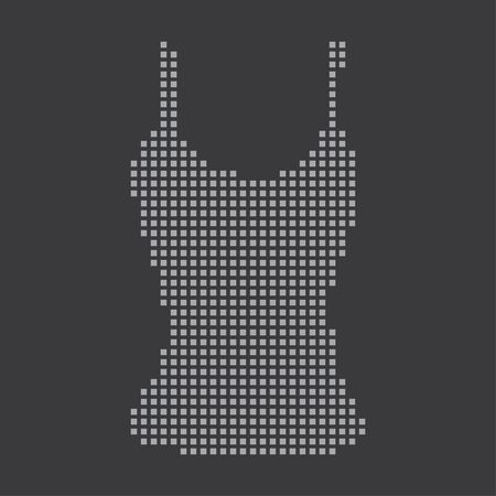 vest top: A Grey Icon Isolated on a Grey Background - Vest Top