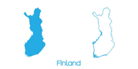 A Map of the country of Finland