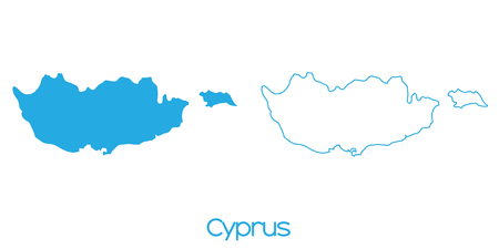 cyprus: A Map of the country of Cyprus