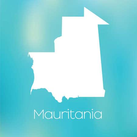 mauritania: A Map of the country of Mauritania