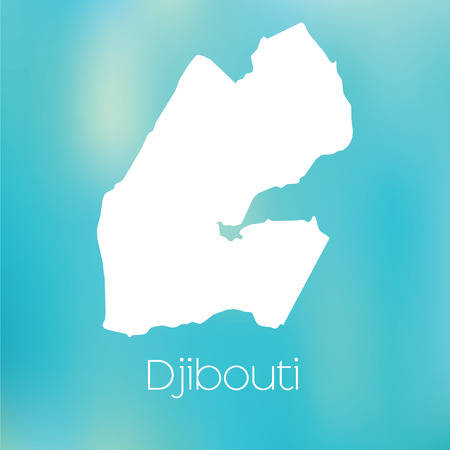A Map of the country of Djibouti