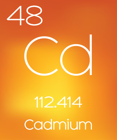 An Informative Illustration Of The Periodic Element Cadmium Stock