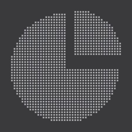 exploded: A Grey Icon Isolated on a Grey Background - Pie Chart Exploded