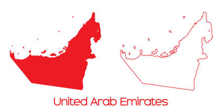 emirates: A Map of the country of United Arab Emirates
