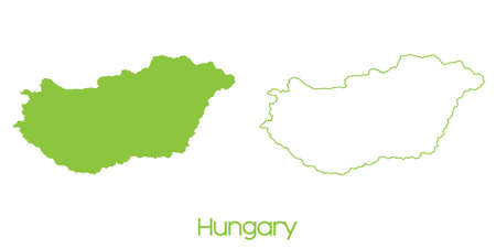 hungary: A Map of the country of Hungary