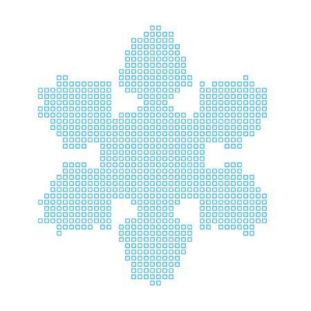copo de nieve: Un mapa del pa�s de copo de nieve Foto de archivo