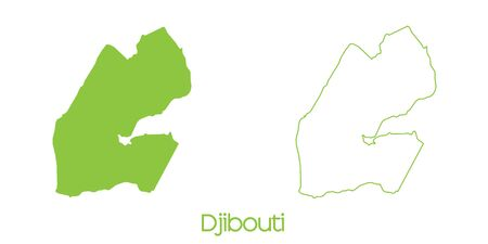 djibouti: A Map of the country of Djibouti